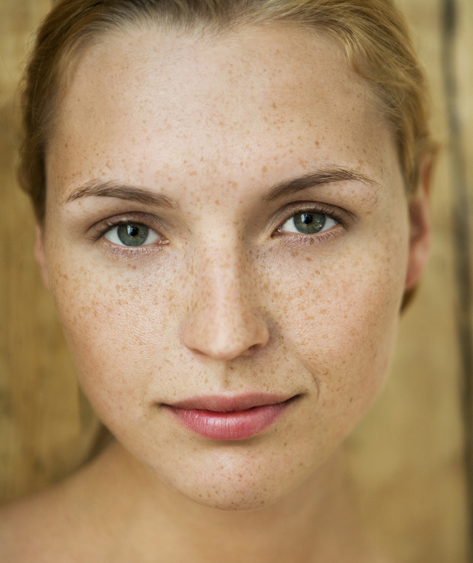 Woman with natural makeup