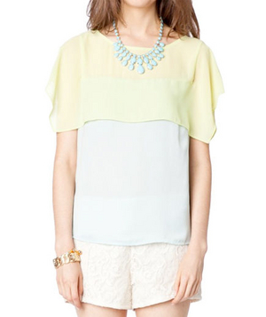 Shop Sosie Bruni Colorblock Top