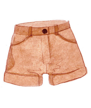 Illustration of shorts