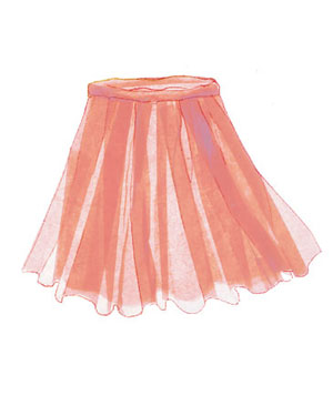Illustration of a skirt