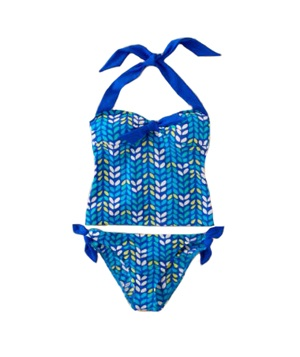 Knot Front Tankini Top and Bikini Bottom by Boden