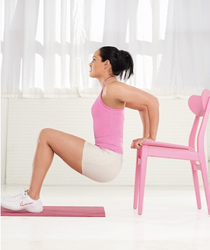 Best Move for Your Triceps: The Chair Dip