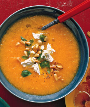 Golden Gazpacho With Feta