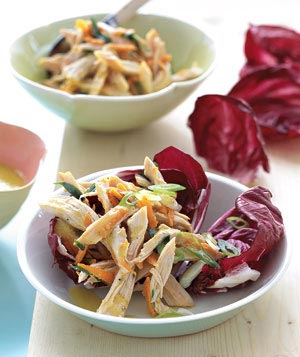 Chicken Salad With Herbs and Radicchio