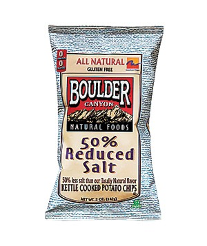 Boulder Canyon 50% Reduced Salt Potato Chips