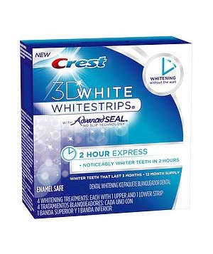 Crest 3D Whitestrips 2-Hour Express