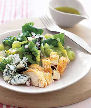 Chicken Salad With Grapes and Blue Cheese