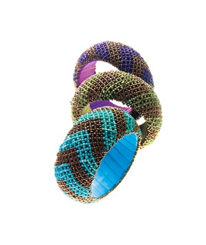 Cost Plus World Market glass-bead bangles