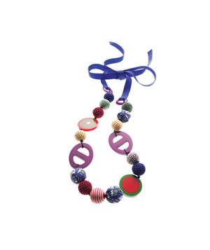 Boden resin-and-cotton necklace