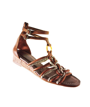 Libby Edelman leather-and-rope sandals