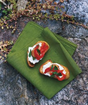 Greg Brown's Roasted Red Pepper Crostini