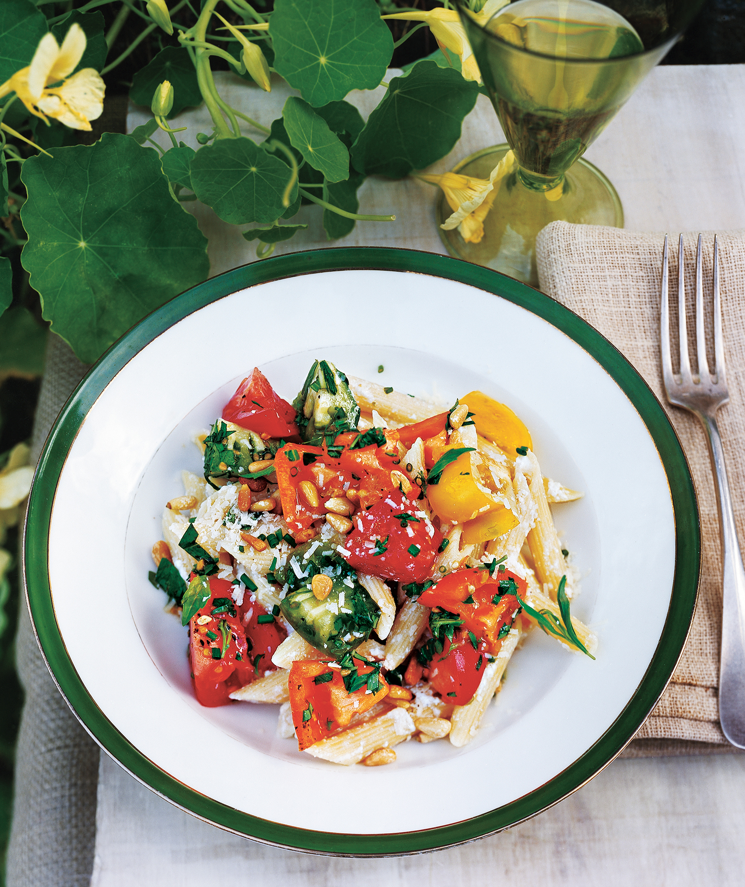 pasta-ricotta-heirloom-tomatoes