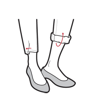 Illustration of cuffed jeans