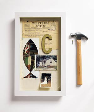 Shadow box and hammer