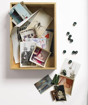 Shadow box and mementos