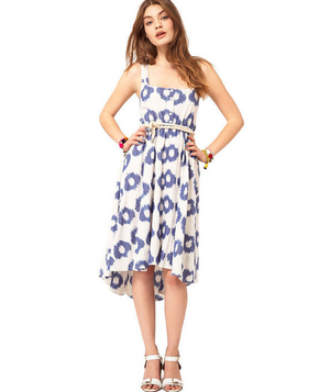 ASOS Summer Midi Dress in Smudge Spot Print