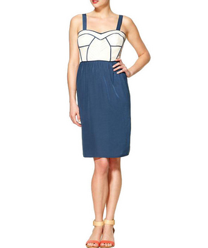 Tinley Road Piped Bodice Colorblock Dress