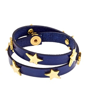 Como Wrap Star Blue Bracelet