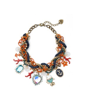 Under the Sea Multi Strand Statement Necklace by Betsey Johnson