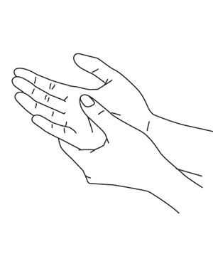 Illustration on hand massage