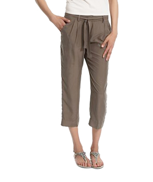 Kenneth Cole Cropped Silk Pants