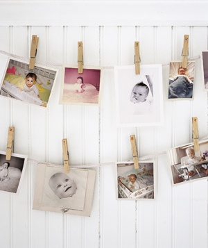 Hanging baby pictures