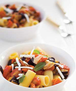 Rigatoni With Sauteed Eggplant and Tomatoes