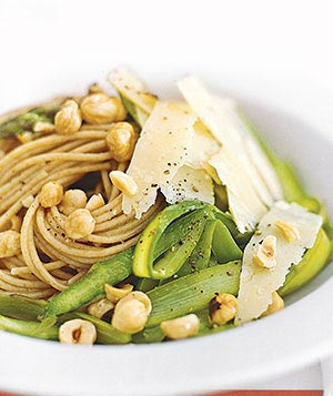 What elevates this pasta from the realm of the ordinary? The unexpected addition of hazelnuts.