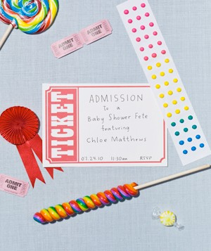 Baby shower circus invite