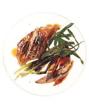 Grilled Hoisin Chicken With Scallions
