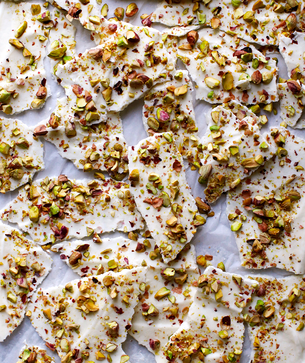 Honey Yogurt Pistachio Bark