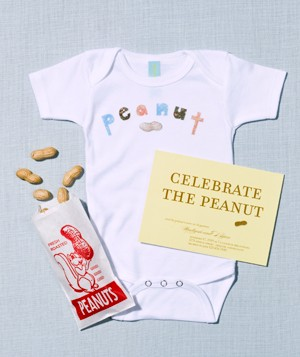 peanut theme party invite