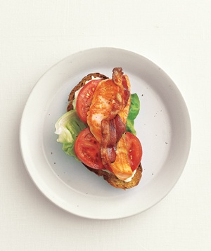 Open-Face Salmon BLTs