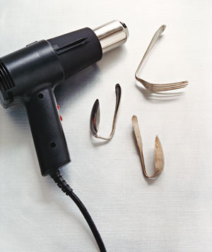Heat gun and spoons