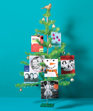 Christmas tree with cards
