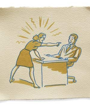 Illustration of co-workers disagreeing