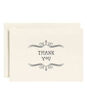 Vintage Marquis Letterpress Thank You Notes