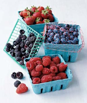 Raspberries, blueberries, strawberries, and blackberries