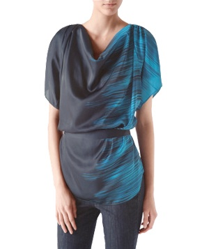 Dramatic Draped Tunic by Calvin Klein