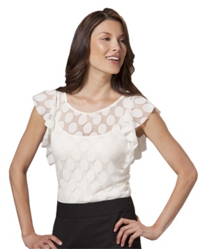 Mesh Flutter Top by The Limited