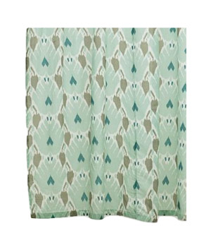 Blue Ikat Shower Curtain
