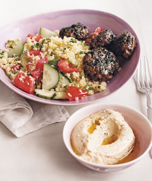 Spiced Mini Burgers With Couscous Salad