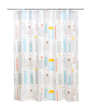 Skyline LT Blue Shower Curtain
