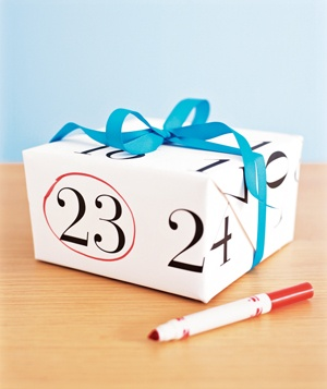 Wall Calendar as Wrapping Paper