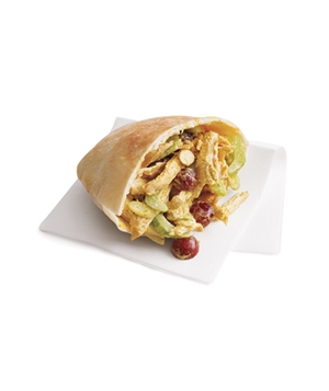 Curried turkey pita