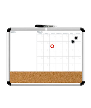 Magnetic Dry Erase 3 in 1 Board