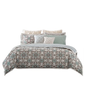 Real Simple Camille Reversible Duvet Cover Set
