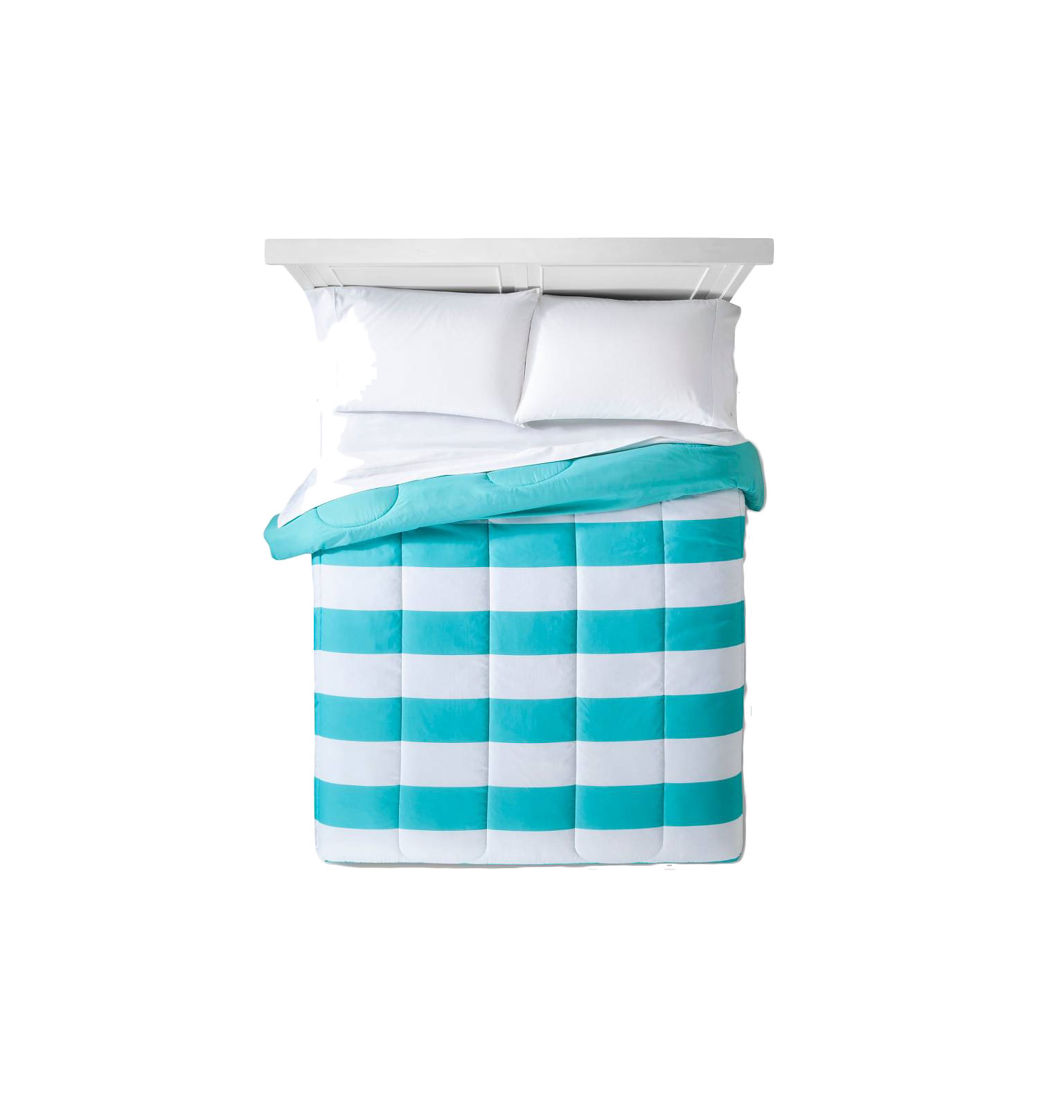 Turquoise Rugby Stripe Duvet