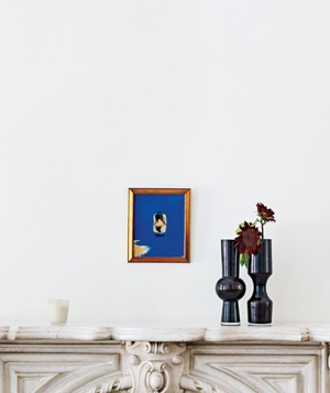 Fireplace and vase