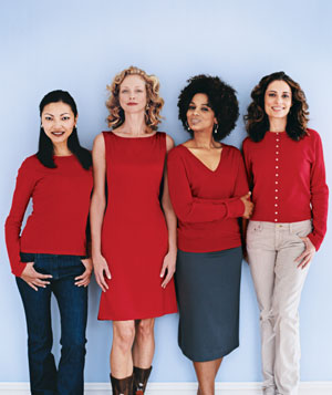 Women wearing red
